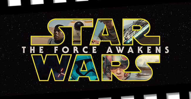 Logo of the seventh Star Wars film: The Force Awakens